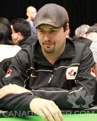 Brad Booth Poker Player at the 2010 BC Poker Championships