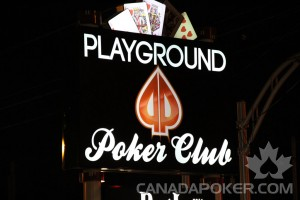 Playground Poker Club Sign Outside