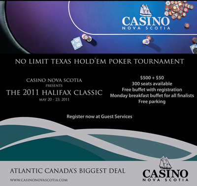 poker tournaments casino nova scotia