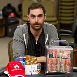 2011 Atlantic Canada Poker Championships winner Ryan Theriault