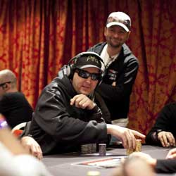 Phil Hellmuth and Daniel Negreanu at the 2011 WSOP Europe