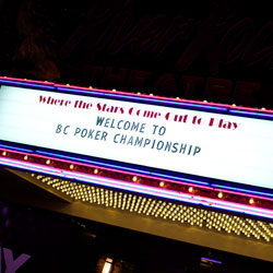 Welcome to BC Poker Championship at River Rock Poker Room Entrance