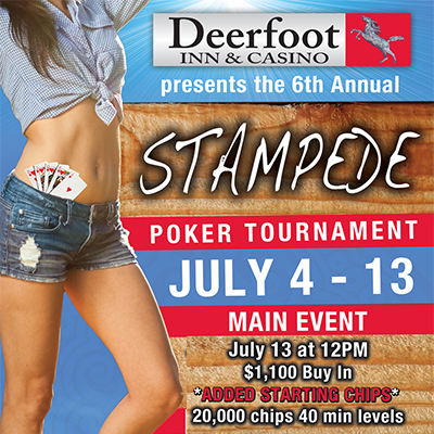 Stampede casino poker tournaments colorado gambling law