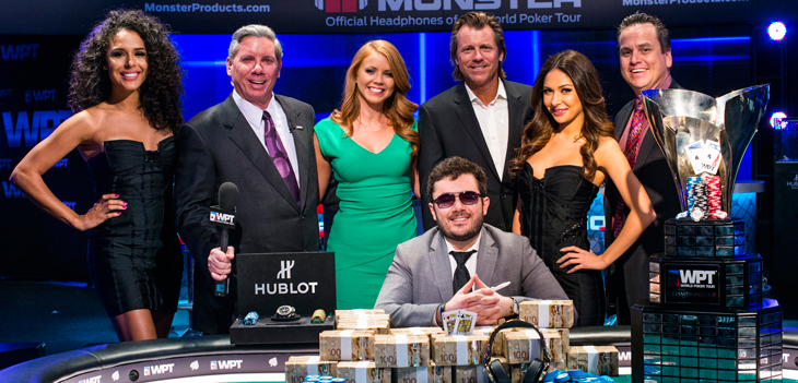 Anthony Zinno Winner WPT Fallsview Poker Classic - Photo courtesy of WPT
