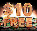 "partypoker ""$10 FREE"" No deposit required & Win a $5,000 Package to WPT Montreal"