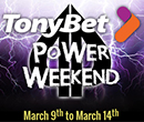 $100,000 Guaranteed TonyBet Power Weekend at Playground Poker Club March 9th – 14th