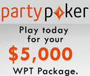 Win entry to the WPT Canadian Spring Championship on partypoker