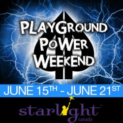 Playground Poker Power Weekend June 15th to 21st