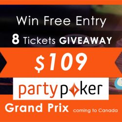 Win Free Entry to any Day 1 Flight of Canadian Grand Prix $500,000 GTD!