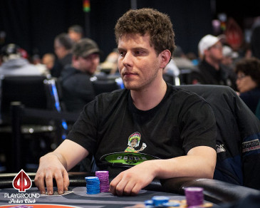 Ari Engel at the Playground Poker Fall Classic $10,000 High Roller final table